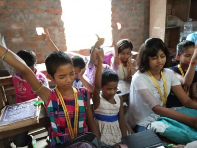 Literacy Program Through Tech Enabled English Learning Entertainment and Activity Classes. The Karimpur Model